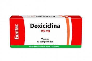 Doxiciclina 100 mg Caja Con 10 Comprimidos