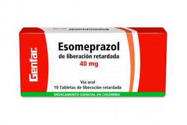Esomeprazol 40 mg Caja Con 10 Tabletas de Liberación Retardada