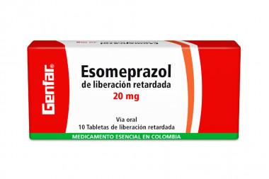 Esomeprazol 20 mg Caja Con 10 Tabletas De Liberación Retardada