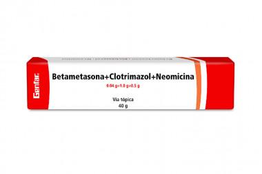 Betametasona + Clotrimazol + Neomicina 0.04 / 1.0 / 0.5 g Caja Con Tubo