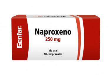 Naproxeno 250 mg Caja Con 10 Comprimidos - Genfar