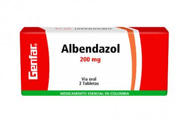 Albendazol 200 mg Caja 2 Tabletas – antihelmínticos