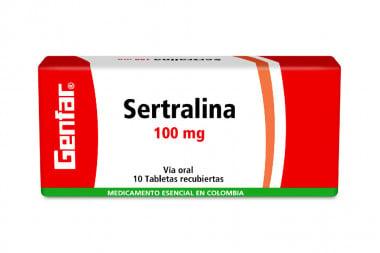 Sertralina 100 mg Caja Con 10 Tabletas Recubiertas