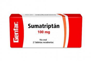 Sumatriptán 100 mg Caja Con 2 Tabletas Recubiertas