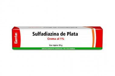 Sulfadiazina De Plata En Crema 1 % Caja Con Tubo Con 30 g