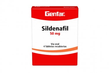 Sildenafil Genfar 50 mg Caja Con 4 Tabletas Recubiertas