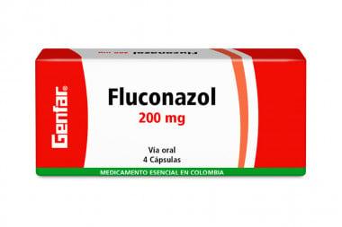 Fluconazol 200 mg Caja Con 4 Cápsulas – Genfar
