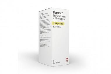 Bactrim 200 / 40 mg Suspensión Caja Con Frasco Con 100 mL