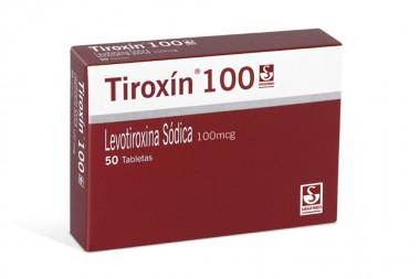 Tiroxín 100 mcg Caja Con 50 Tabletas