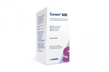 Curam Polvo 600 / 42.9 mg Caja Con Frasco 125 mL - Solución Oral
