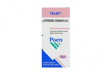 Talof 0.2 % Caja Con Frasco x 5 mL Suspensión Oftálmica – Poen