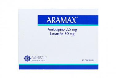 Aramax 2,5 / 50 mg Caja Con 30 cápsulas