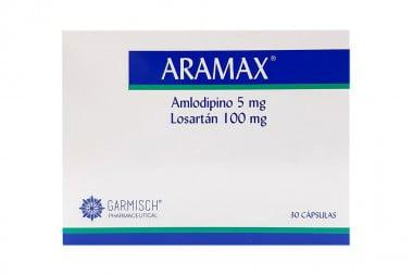 ARAMAX 5 / 100 mg Caja Con 30 Cápsulas