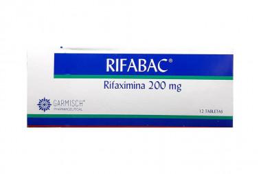 Rifabac 200 mg Caja Con 12 Tabletas