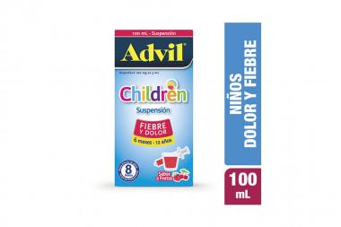 Advil Children Suspensión 100 mg / 5 mL Caja Con Frasco Con 100 mL - Sabor A Frutas