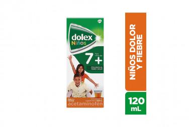 Dolex Niños 7+ Suspensión Caja Con Frasco Con 120 mL