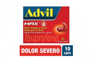 Advil Max Caja Con 10 Cápsulas Líquidas