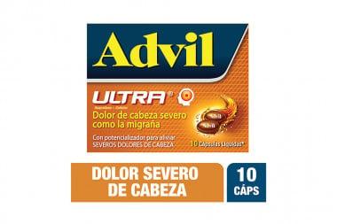 Advil Ultra Caja Con 10 Cápsulas Líquidas
