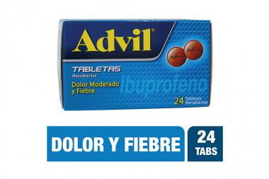 Advil Caja Con 24 Tabletas Recubiertas – Analgésico