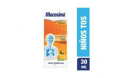Mucosina Gotas Pediátricas Caja Con Frasco Con 30 mL - Sabor A Naranja