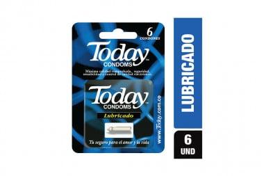 Today Lubricado Máxima Seguridad Caja Con 6 Condones