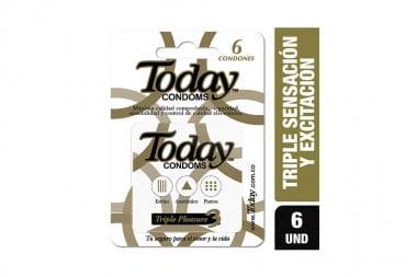 Today Triple Placer Caja Con 6 Condones