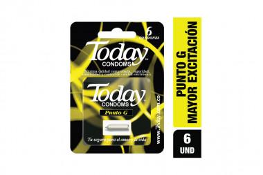 Today Condoms Punto G Caja Con 6 Condones