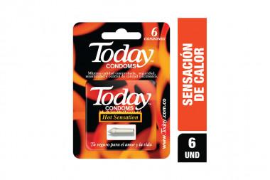 Condones Today Hot Sensation Empaque Con 6 Unidades