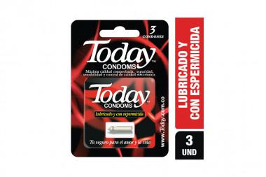 Condones Today Lubricado Con Espermicida Empaque Con 3 Unidades