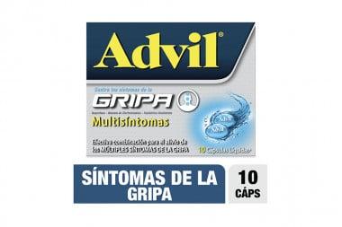 Advil Gripa Multisíntomas Caja Con 10 Cápsulas Líquidas