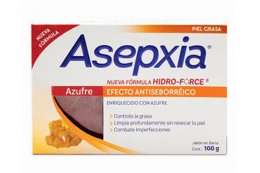 Asepxia Jabón Facial Antiacné Azufre Barra Con 100 g