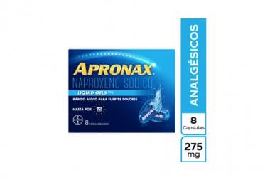 Apronax Liquid Gel 275 mg Caja Con 8 Cápsulas Líquidas