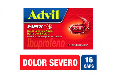 Advil Max Caja Con 16 Cápsulas Líquidas