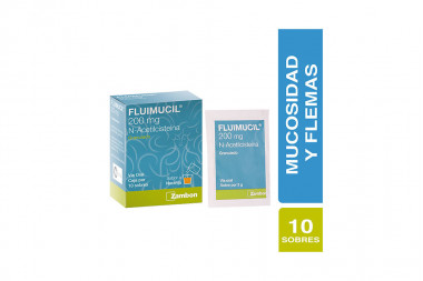 Fluimucil Granulado 200 mg Caja Con 10 Sobres