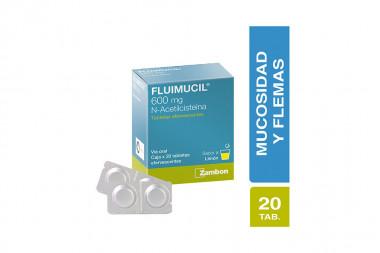 Fluimucil 600 mg Caja Con 20 Comprimidos Efervescentes