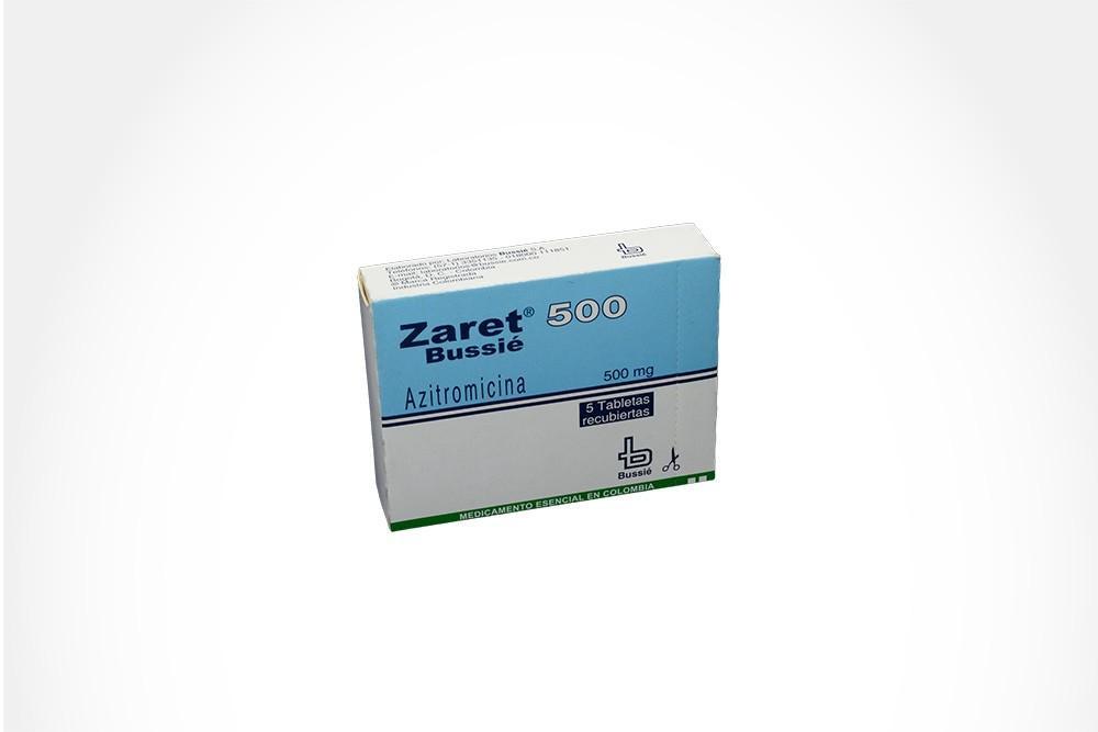 Zaret 500 mg Caja Con 5 Tabletas Recubiertas