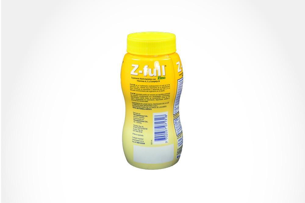 Z-Full Granulado Frasco Con 300 g - Sabor A Vainilla