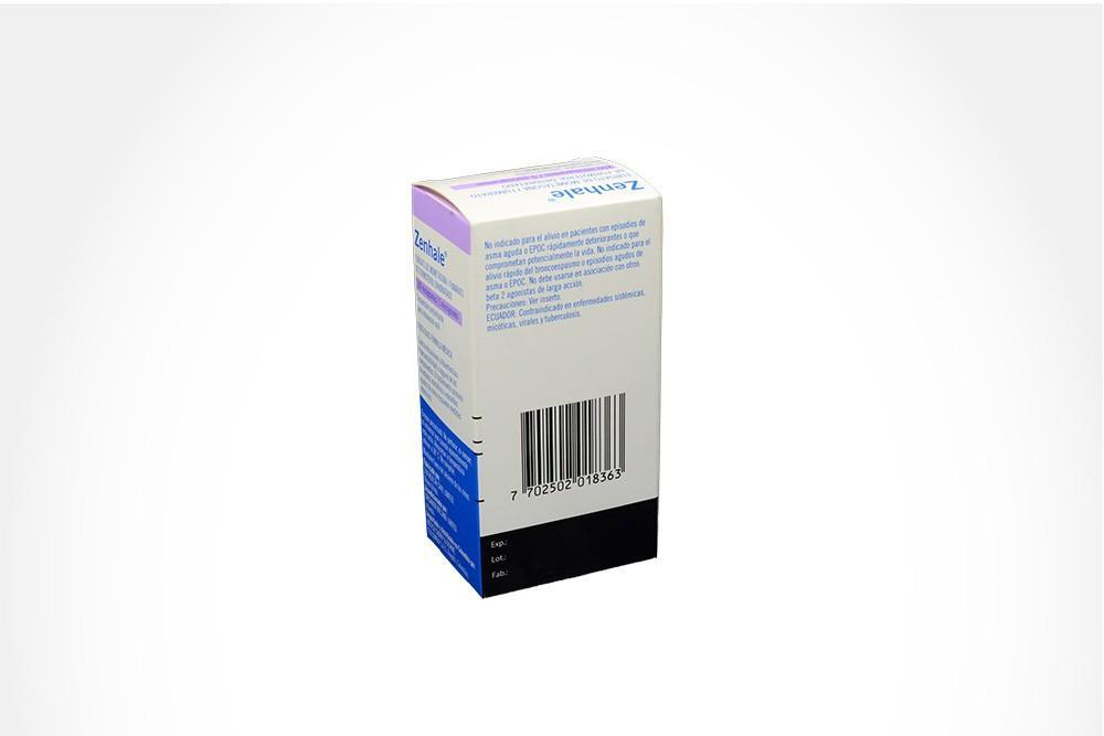 Zenhale 200/5 mcg Caja Con Inhalador Con 60 Dosis / 120 Inhalaciones