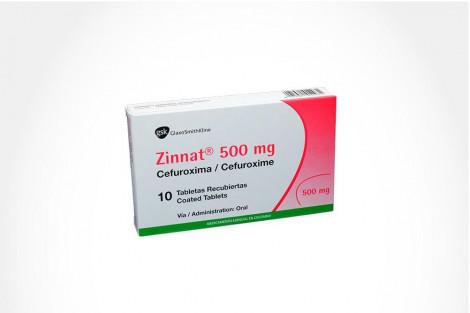 Zinnat 500 mg Caja Con 10 Tabletas Recubiertas