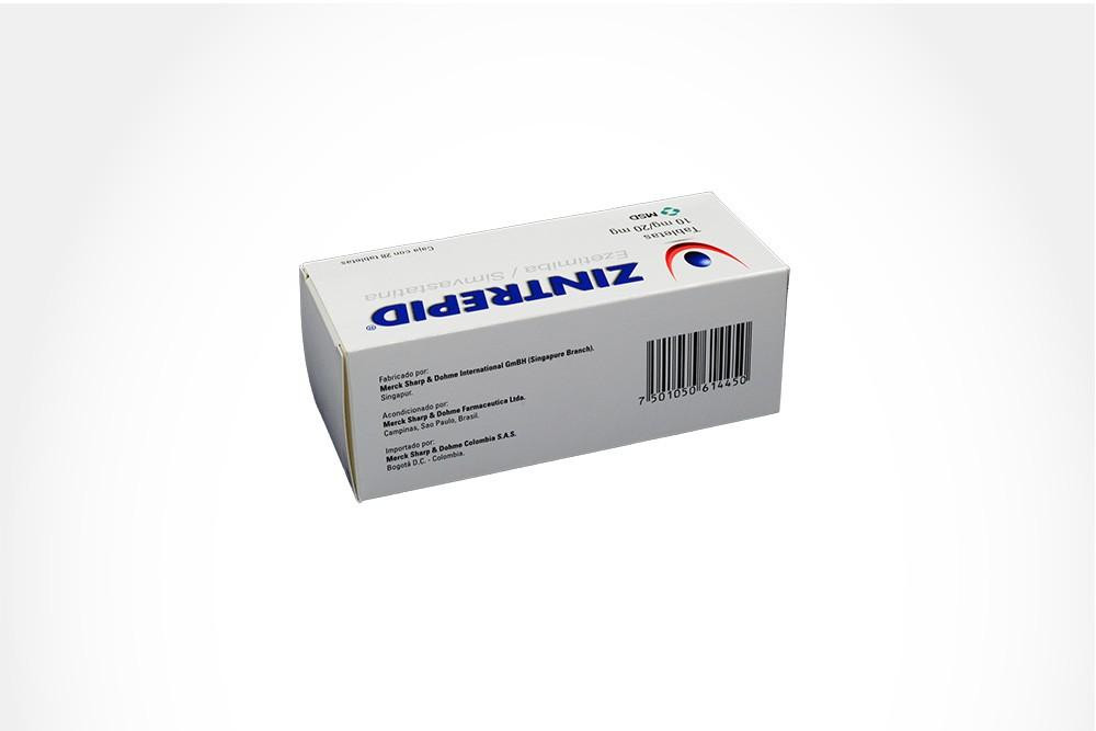 ZINTREPID 10 / 20 mg Caja Con 28 Tabletas
